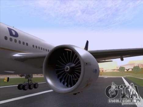 Boeing 777-200 United Airlines para GTA San Andreas vista traseira