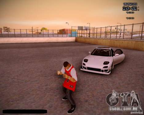 Pele Chicago Bulls para GTA San Andreas sexta tela