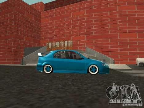 Renault Logan para GTA San Andreas traseira esquerda vista