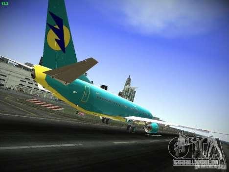 Boeing 737-84R AeroSvit Ukrainian Airlines para GTA San Andreas vista direita