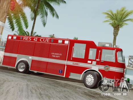 Pierce Contender LAFD Rescue 42 para as rodas de GTA San Andreas