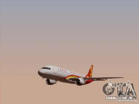 Airbus A320-214 Hong Kong Airlines para vista lateral GTA San Andreas