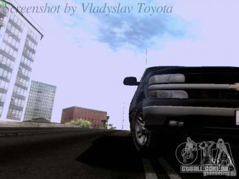 Chevrolet Tahoe 2003 SWAT para GTA San Andreas vista traseira