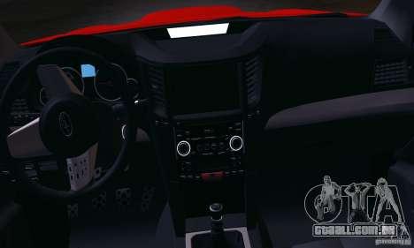 Subaru Legacy B4 2010 para GTA San Andreas vista interior