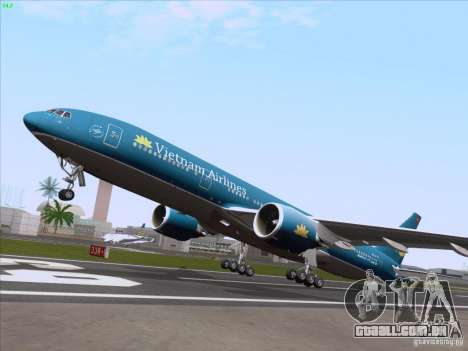 Boeing 777-2Q8ER Vietnam Airlines para vista lateral GTA San Andreas