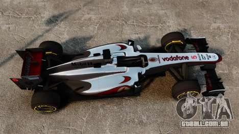 McLaren MP4-28 para GTA 4 vista de volta