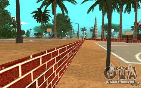 Nova quadra de basquete de texturas para GTA San Andreas por diante tela