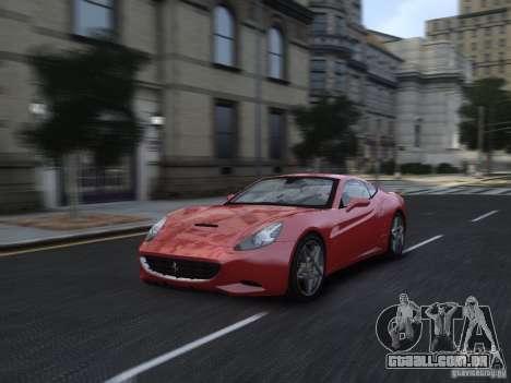 Ferrari California 2009 para GTA 4 vista lateral