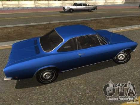 Chevrolet Corvair Monza 1969 para GTA San Andreas esquerda vista
