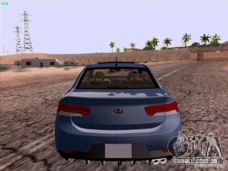 Kia Cerato Coupe 2011 para GTA San Andreas vista direita