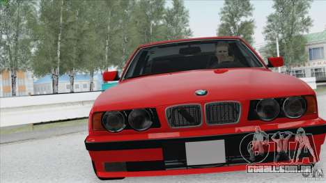BMW 525i E34 para GTA San Andreas vista interior