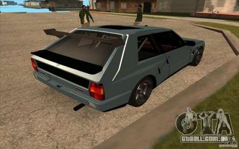 Lancia Delta Integrale para GTA San Andreas vista direita