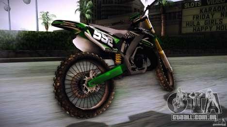 Kawasaki KLX 250S para GTA San Andreas esquerda vista