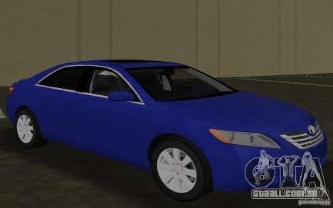 Toyota Camry 2007 para GTA Vice City vista interior