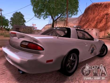 Chevrolet Camaro 2002 California Highway Patrol para GTA San Andreas traseira esquerda vista