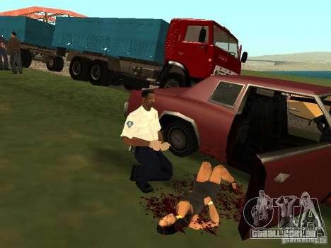 Um acidente horrível para GTA San Andreas por diante tela