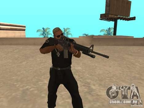 M4A1 from Left 4 Dead 2 para GTA San Andreas terceira tela