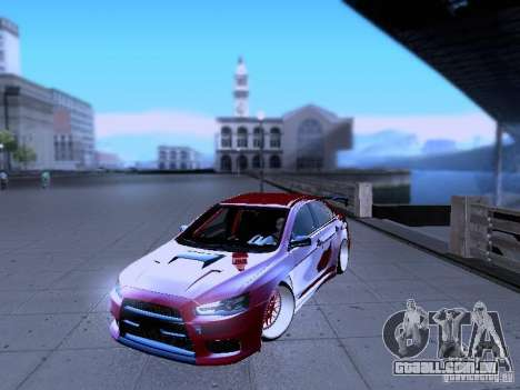Mitsubishi Lancer Evolution X v2 Make Stance para GTA San Andreas