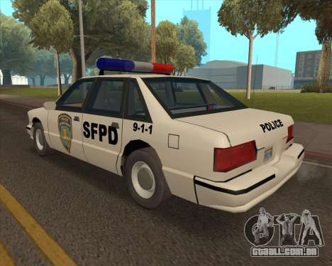 Updated SFPD para GTA San Andreas esquerda vista