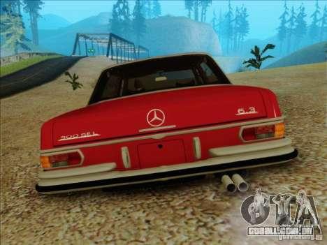 Mercedes-Benz 300 SEL para GTA San Andreas vista traseira