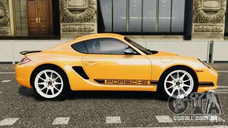 Porsche Cayman R 2012 [RIV] para GTA 4 esquerda vista