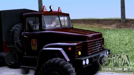 Escola de condução do caminhão para GTA San Andreas esquerda vista