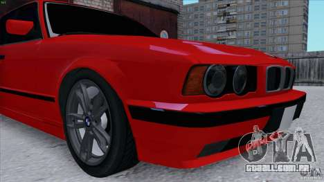 BMW 525i E34 para GTA San Andreas vista traseira