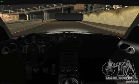 Nissan 350Z Tunable para GTA San Andreas vista inferior