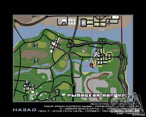 Villa na lagoa de pesca para GTA San Andreas décima primeira imagem de tela