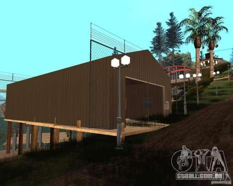Villa na lagoa de pesca para GTA San Andreas oitavo tela