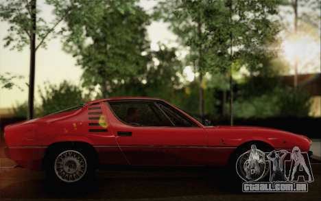 Alfa Romeo Montreal 1970 para GTA San Andreas traseira esquerda vista