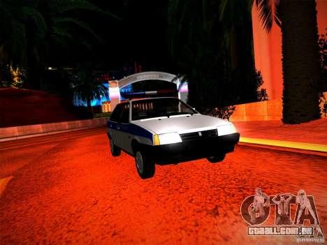 Polícia Vaz 2109 para GTA San Andreas vista direita