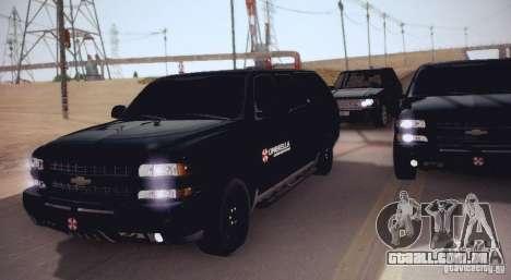 Chevrolet Suburban 2003 para GTA San Andreas esquerda vista