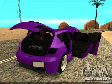 Mazda Speed 3 Stance para GTA San Andreas vista interior