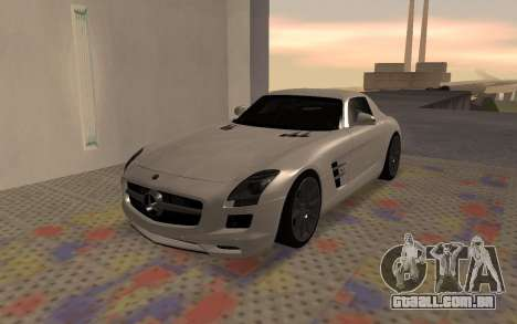 Mercedes-Benz SLS AMG 2010 para GTA San Andreas traseira esquerda vista