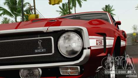 Shelby GT500 428 Cobra Jet 1969 para vista lateral GTA San Andreas