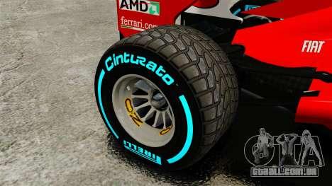 Ferrari F2012 para GTA 4 vista de volta
