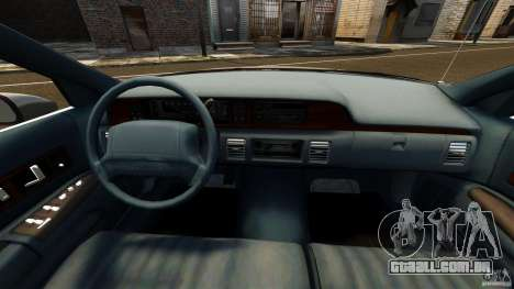 Chevrolet Caprice 1991 para GTA 4 vista de volta