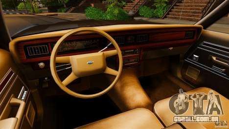 Ford LTD Crown Victoria 1987 para GTA 4 vista de volta