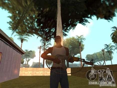 AK 47 com um HD de baioneta-faca para GTA San Andreas por diante tela