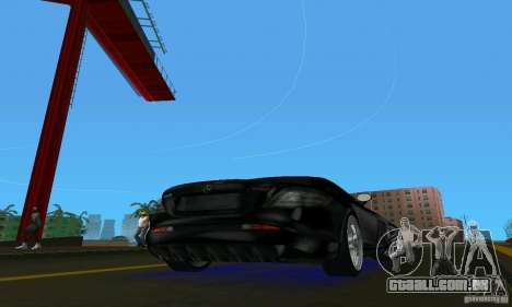 Mercedes-Benz SLR McLaren 722 Black Revel para GTA Vice City vista direita