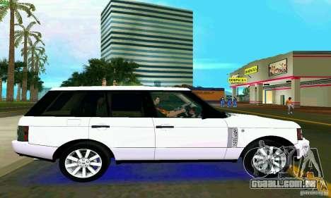 Land Rover Range Rover Supercharged 2008 para GTA Vice City vista traseira esquerda
