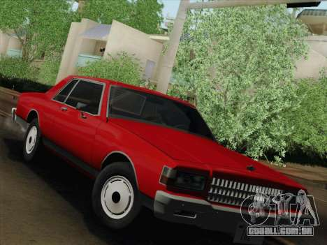 Chevrolet Caprice 1986 para GTA San Andreas esquerda vista