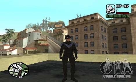 Nightwing skin para GTA San Andreas sexta tela