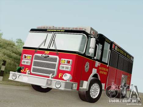 Pierce SFFD Rescue para GTA San Andreas esquerda vista
