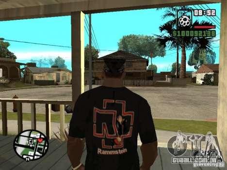 Rammstein t-shirt v1 para GTA San Andreas segunda tela