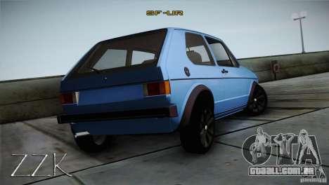Volkswagen Golf MK1 para GTA San Andreas vista direita