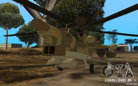 MI-28n para GTA San Andreas esquerda vista