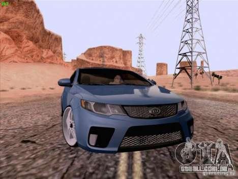 Kia Cerato Coupe 2011 para GTA San Andreas traseira esquerda vista