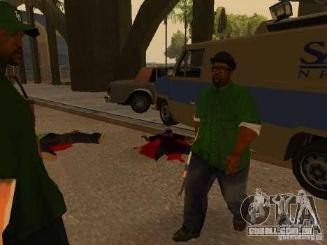 Grove Street Forever para GTA San Andreas por diante tela